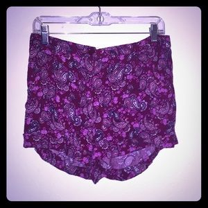Pinkish purple high waisted Forever 21 shorts